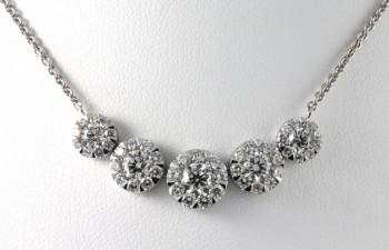 Diamond Necklace Fine Jewelry Women's Diamond Necklace 14KT White Gold